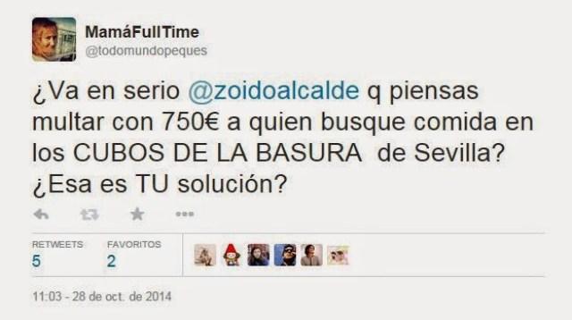 la pobreza se multa en Sevilla