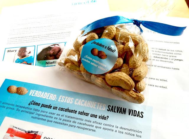 desnutrición infantil ayuda colaboración cacahuetes