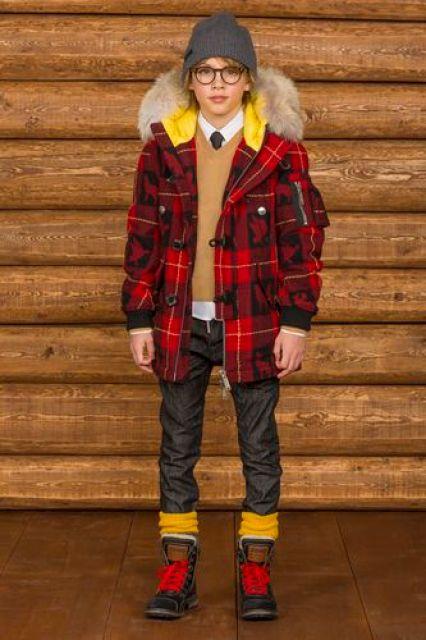 invierno moda infantil color calor