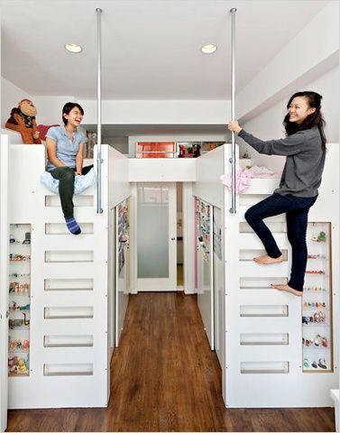 camas altas dormitorio estrecho kids