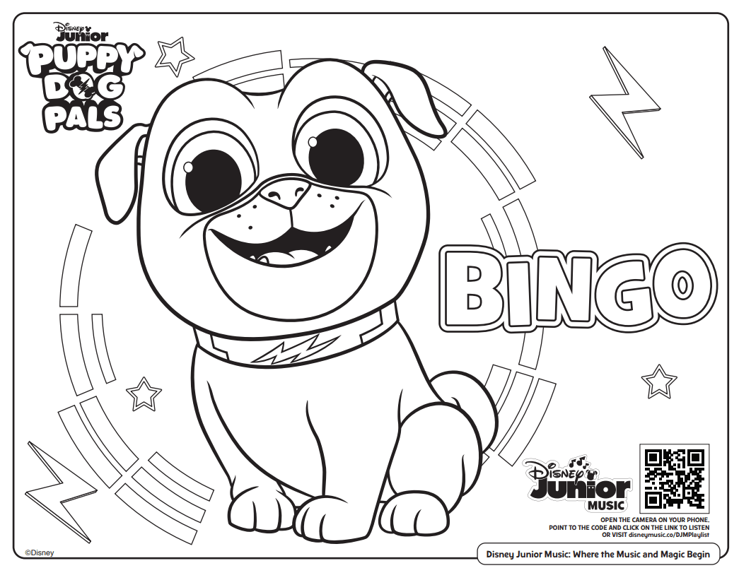 Free Printable Disney Junior Coloring Pages (+ Disney