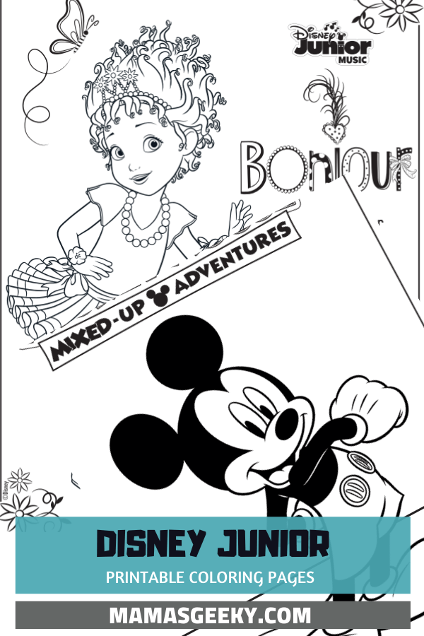 Free Printable Disney Junior Coloring Pages Disney Music Playlists
