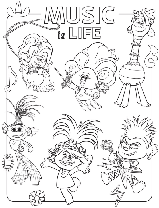 Free Printable Trolls World Tour Party Pack With Activity