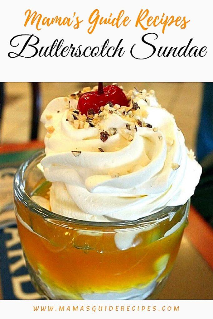 Butterscotch Sundae