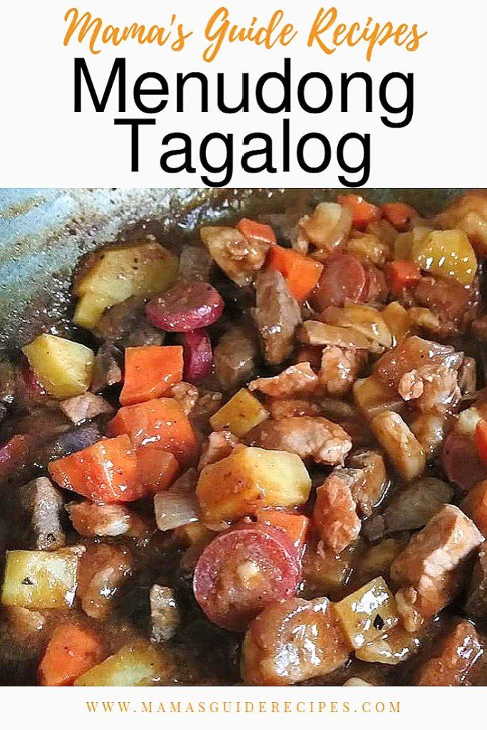 Menudong Tagalog