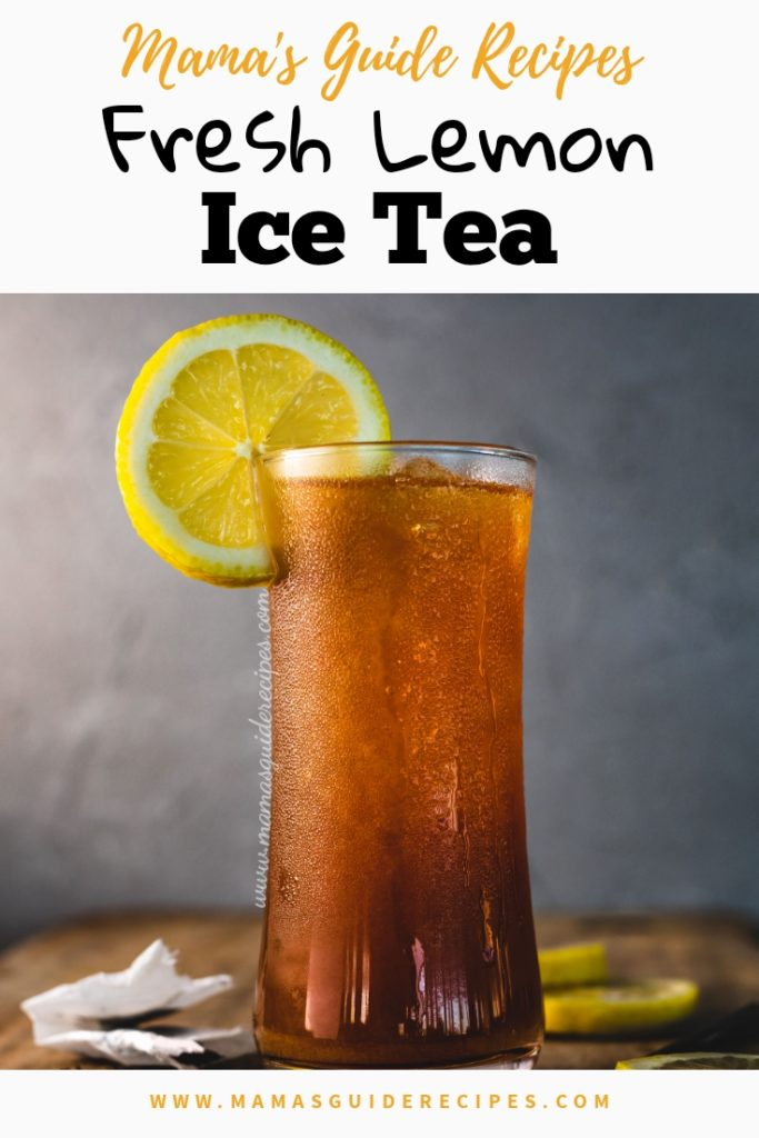 Fresh Lemon Ice Tea