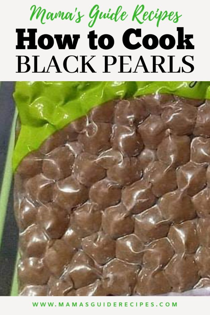 How to Cook Black Pearls