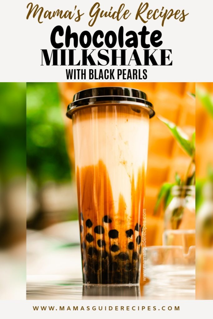 CHOCOLATE MILKSHAKE WITH BLACK PEARLS