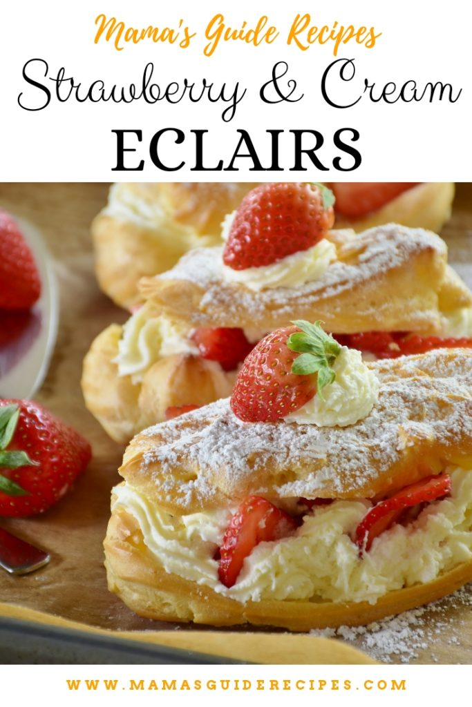 Strawberry and Cream Eclairs
