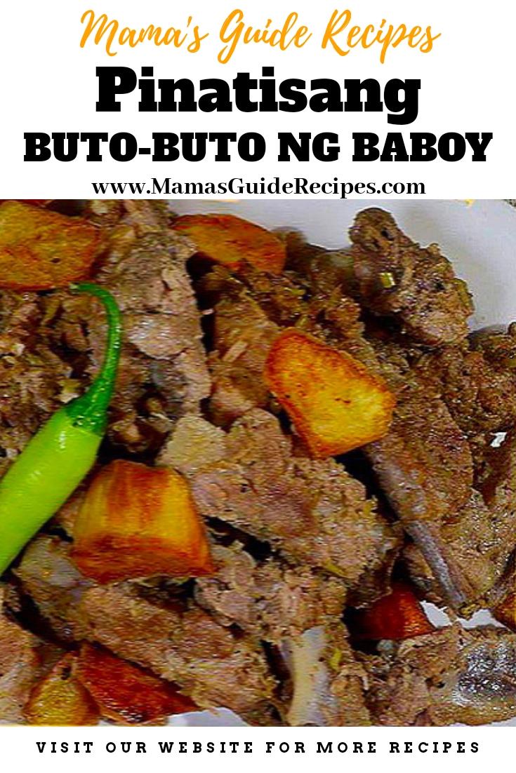 Pinatisang Buto-buto ng Baboy