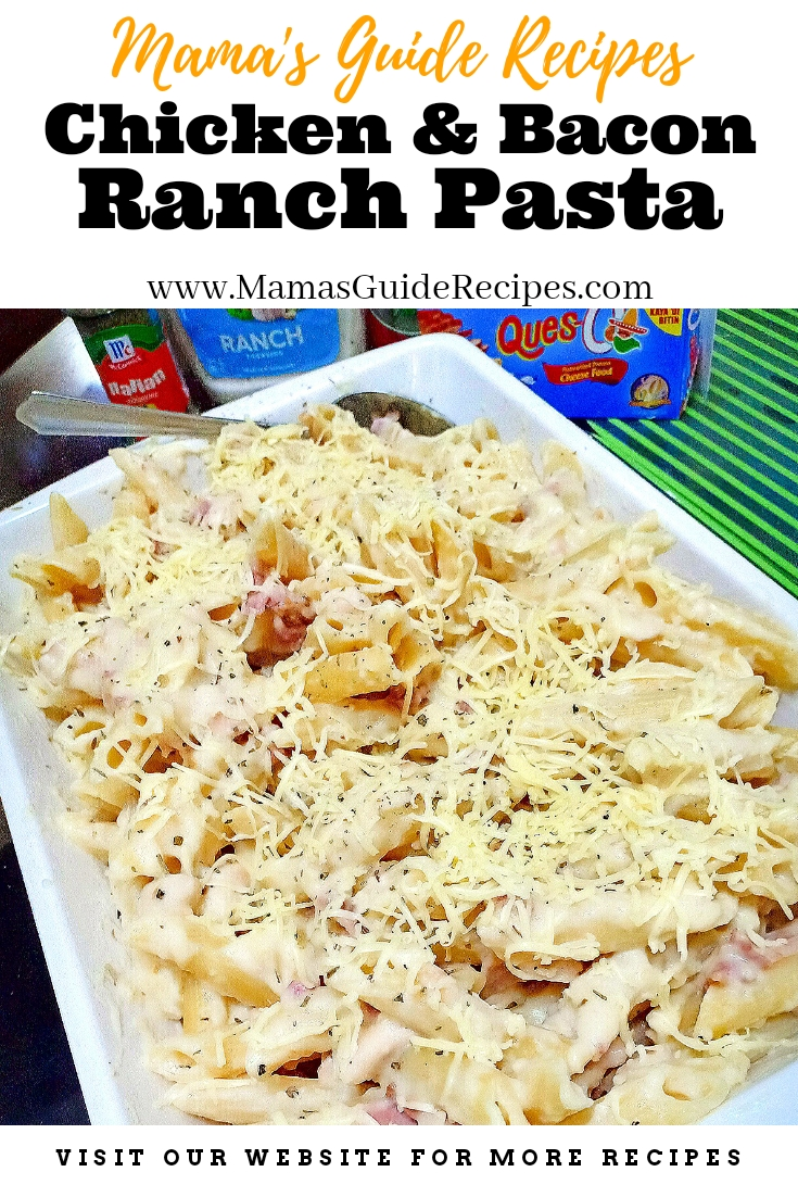 CHICKEN AND BACON RANCH PASTA