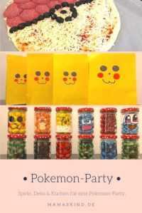 Pokemon-Party zum Kindergeburtstag mit Deko, Spielen ...
