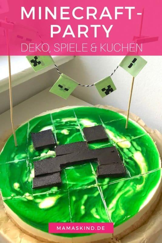 Minecraftparty Zum Kindergeburtstag Mit Deko, Spielen