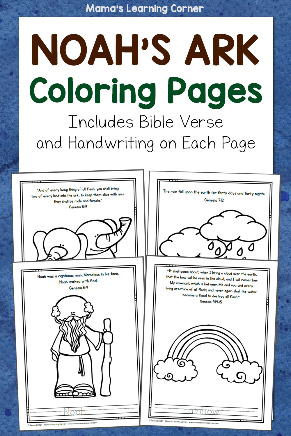 Noah's Ark Coloring Pages : noah's, coloring, pages, Noah's, Coloring, Pages, Mamas, Learning, Corner