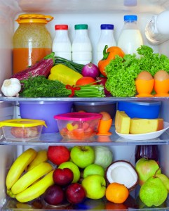 Healthy Diet Foods in Fridge