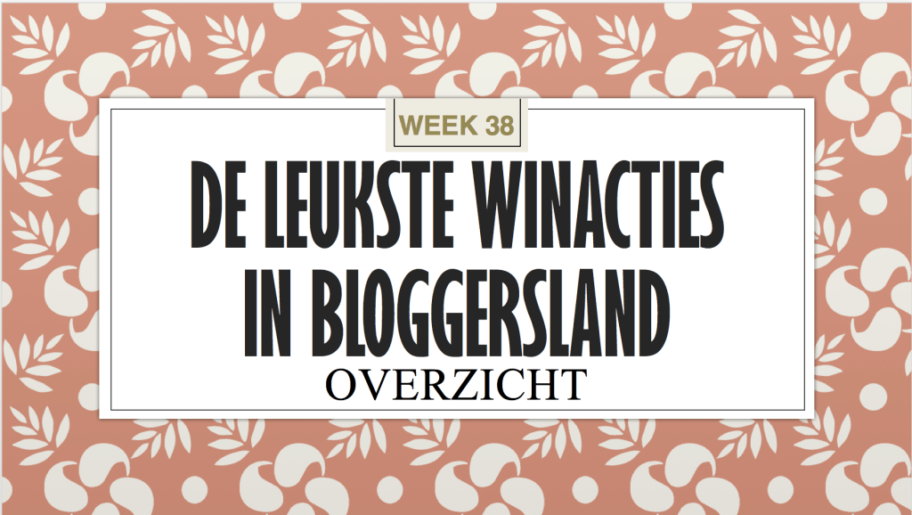 Winacties week 38