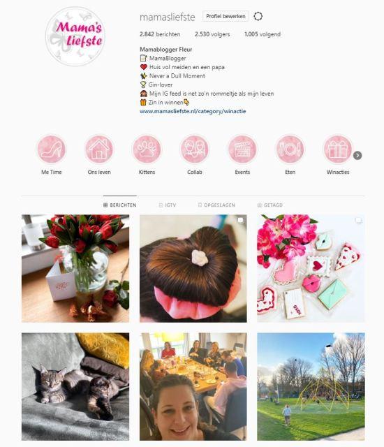 Instagram account Mama's Liefste