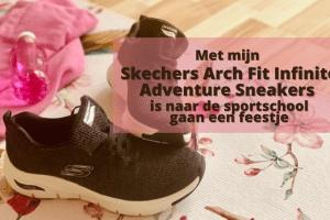 Met de Skechers Arch Fit - Infinite Adventure Sneakers is naar de sportschool gaan een feestje