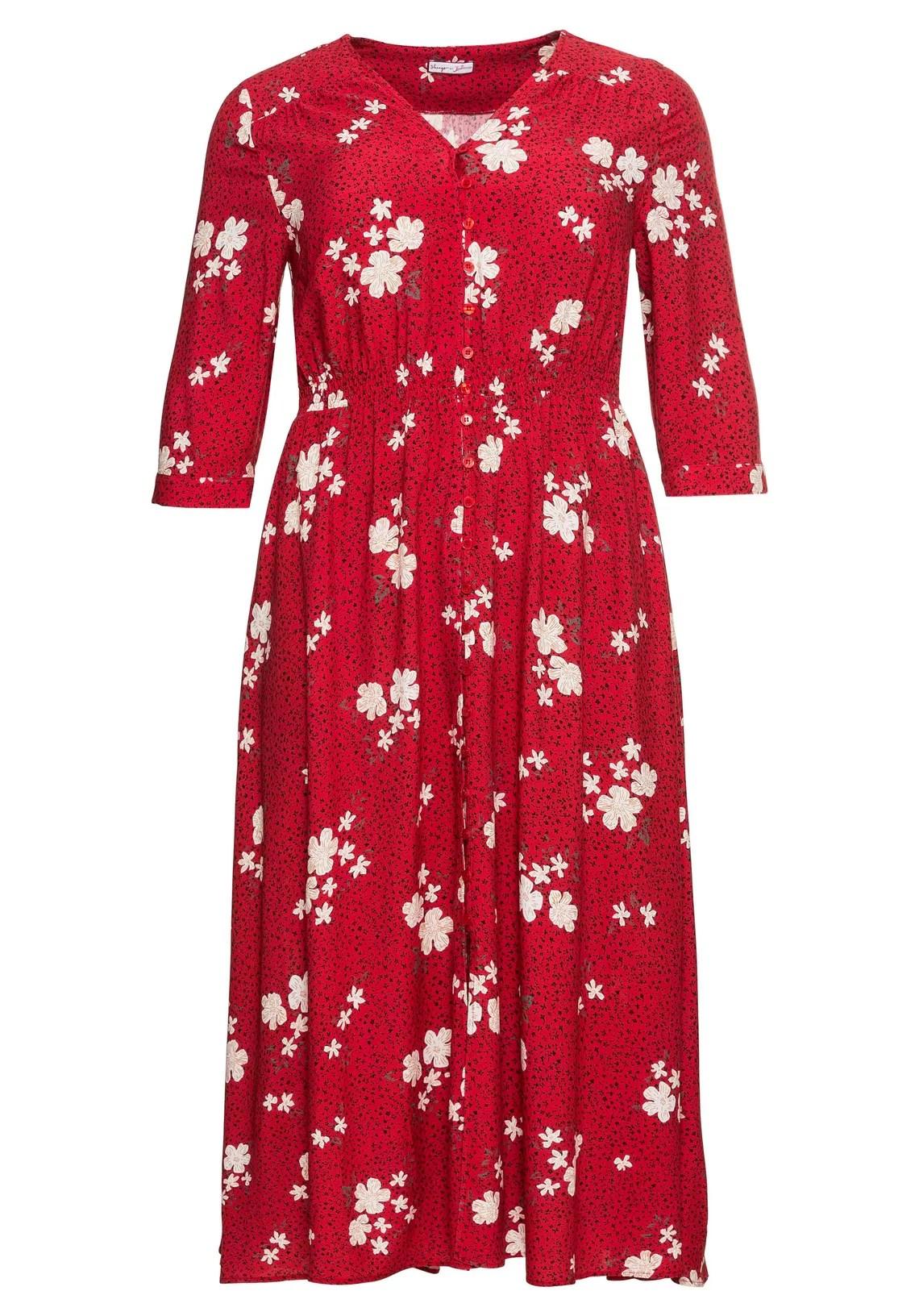 sheego by Joe Browns maxi-jurk met kleurrijke bloemenprint