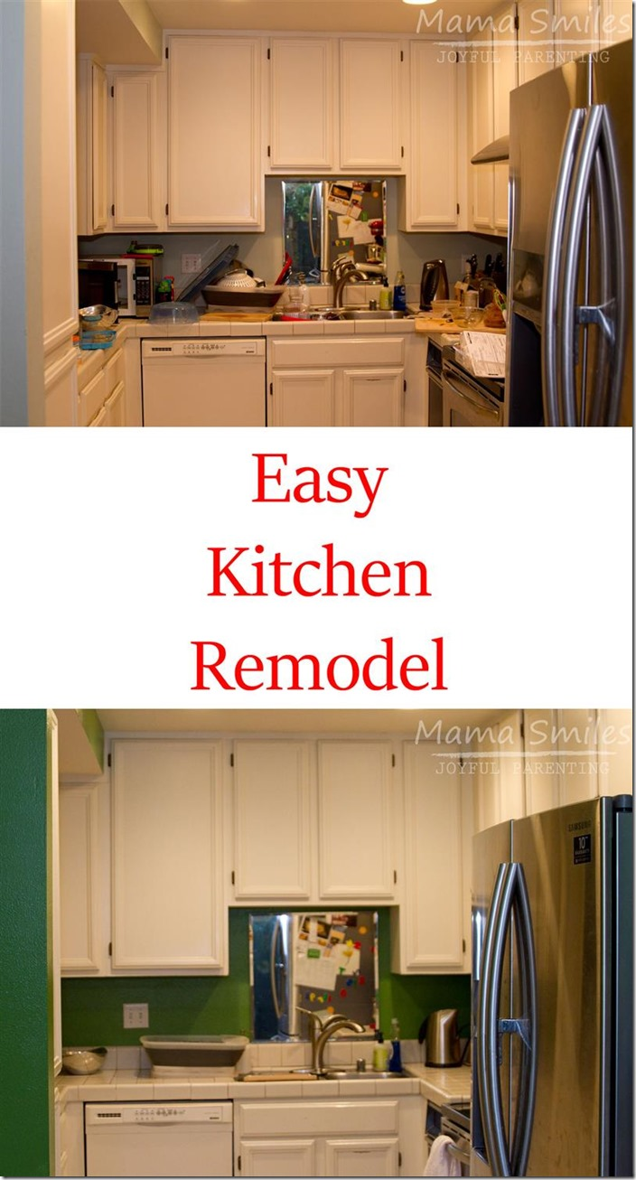 easy kitchen remodel tall garbage bags diy add color mama smiles only 50
