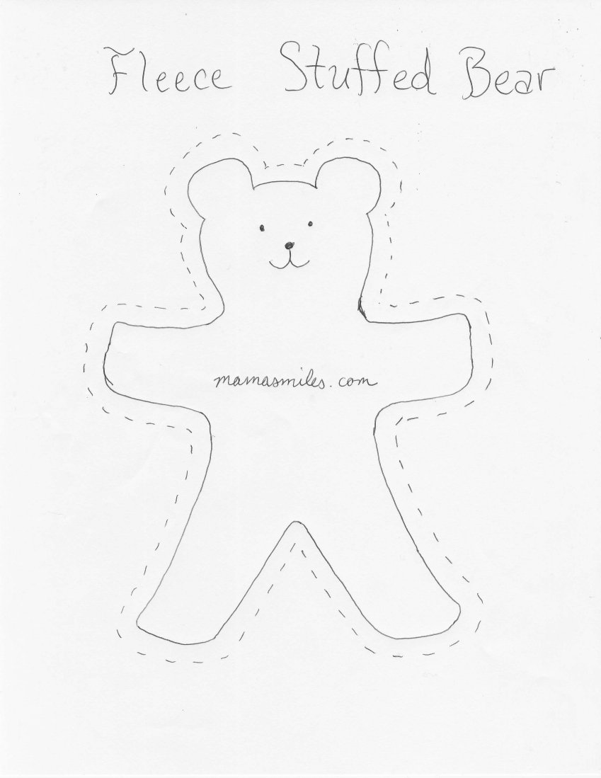 Teddy Bear Outline For Sewing