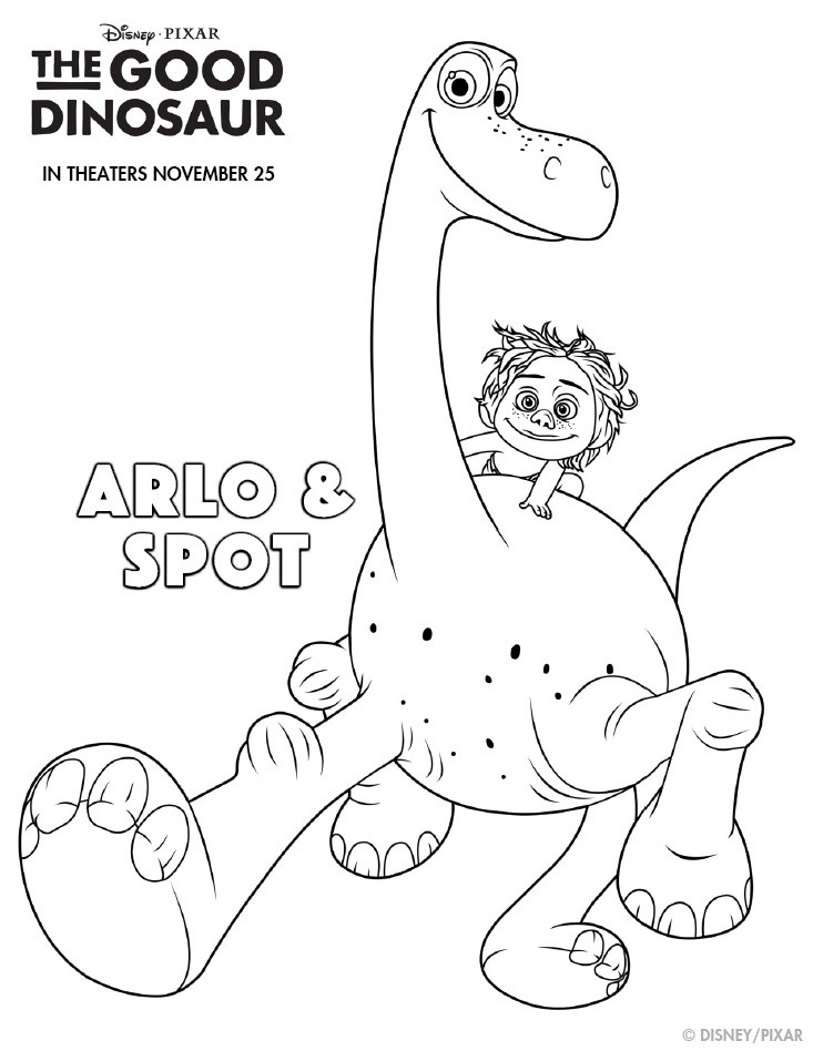 The Good Dinosaur Activity & Coloring Pages Plus Game!