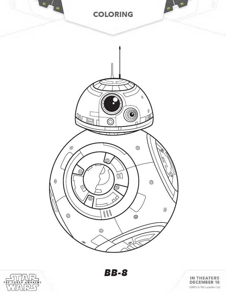Star Wars Coloring Pages, Activity Sheets, and More!