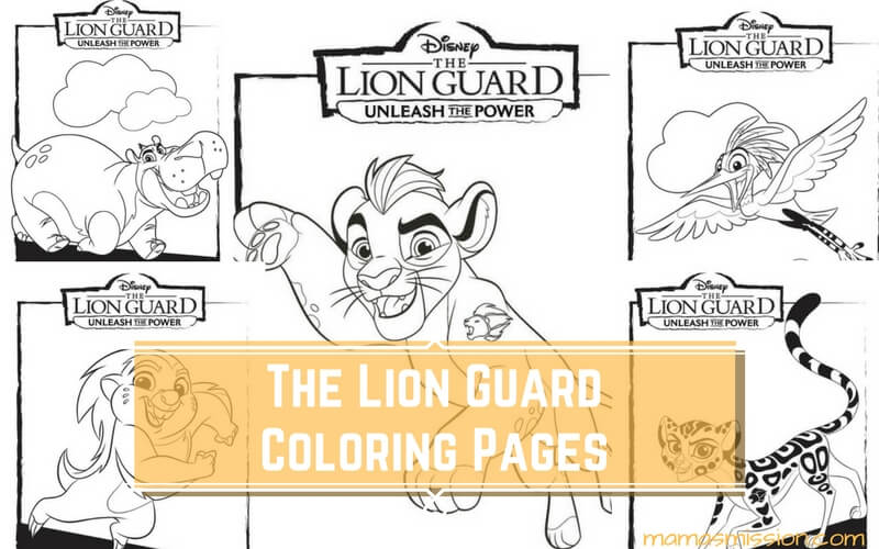 The Lion Guard Coloring Pages