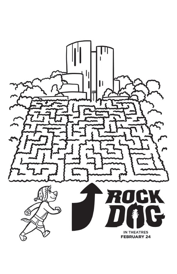 Rock Dog Coloring Pages And Activity Sheets Free Printables