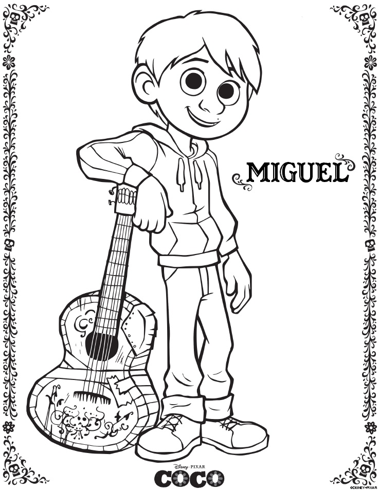 Disney Pixar Coco Coloring Pages And Activity Sheets Free Printables