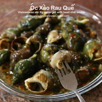 Vietnamese Escargot with Basil Chili Sauce - Oc Xao Rau Que