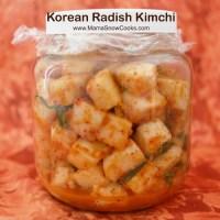 Korean Radish Kimchi