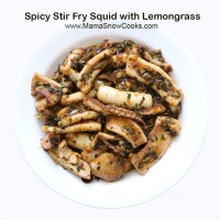 Spicy Stir Fry Squid with Lemongrass