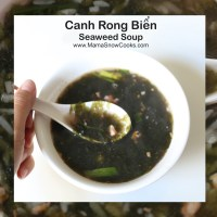 Vietnamese Seaweed Soup - Canh Rong Bien