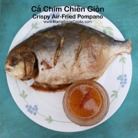 Air Fried Crispy Pompano - Ca Chim Chien Gion