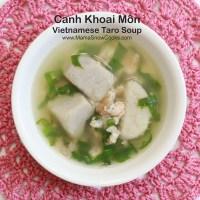 Vietnamese Taro Soup - Canh Khoai Mon