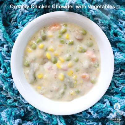 Creamy Chicken Chowder with Vegetables and Pasta 090119 (6)