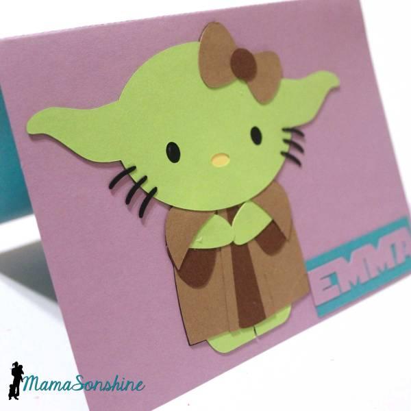 Kitty Yoda Card Mama Sonshine