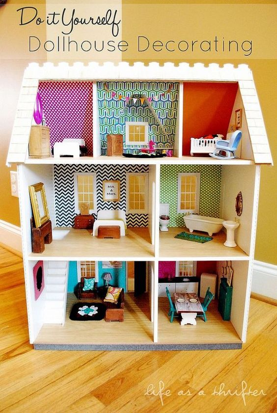 8 prachtige DIY poppenhuizen  maak zelf een poppenhuis  Mamasopinternet