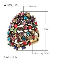 Hot Vintage Bohemian Statement Jewelry Fashion Big Colored ...