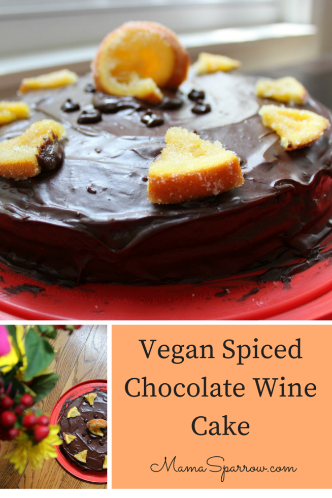 Vegan Spiced Chocolate Wine Cake Pinterest Photo
