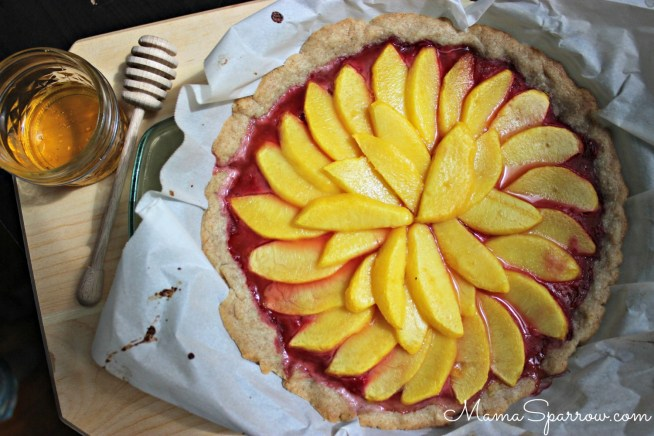 Peach Raspberry Honey Tart