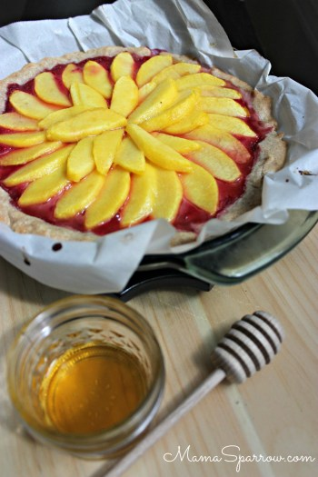 Peach Raspberry Tart