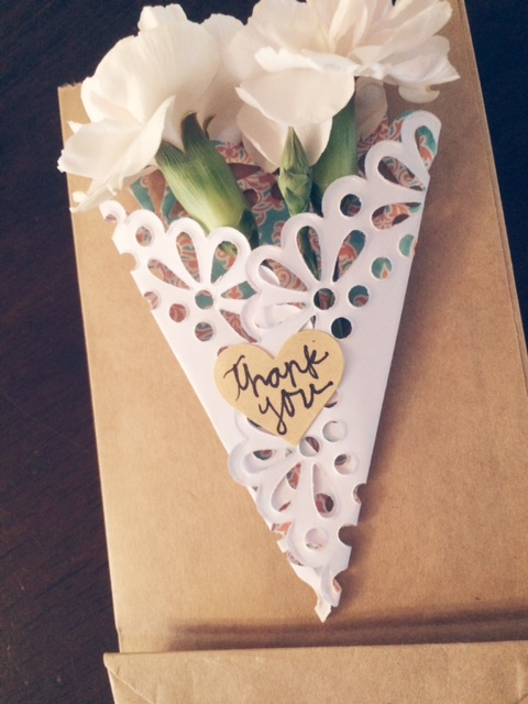 Gift Card Wrap with Flowers