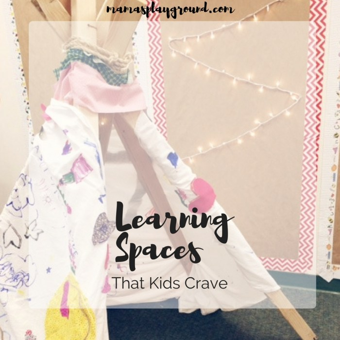 Create learning spaces for kids in your classroom or at home to really help them thrive.