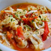 Mama Steph's Spicy chicken-radiatore soup