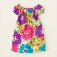 floral neon smocked dress $16.95 reg - $19.95