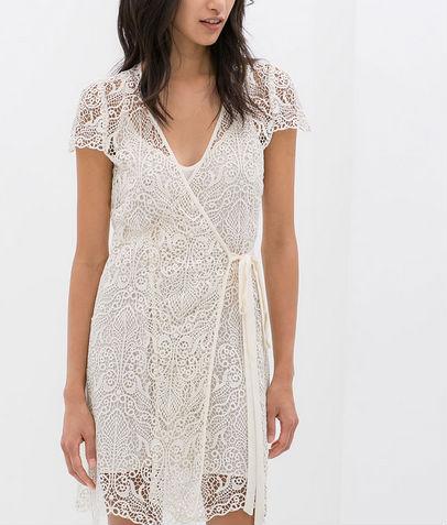Vestido blanco Zara. 119 dólares
