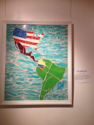 Obra parte de la colección 'De la Finca a la Taza', hecha por el artista colombiano Edwin Gil, presentada con la colaboración de 'Café Perfecto'.