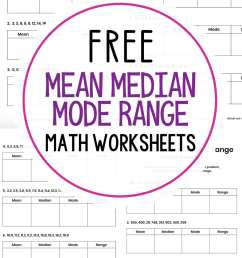 Mean Median Mode Range Worksheets {Free Printables} - Mama Teaches [ 1500 x 1000 Pixel ]